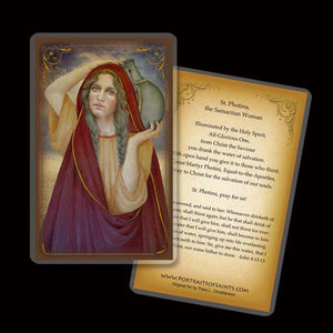 St. Photina Holy Card