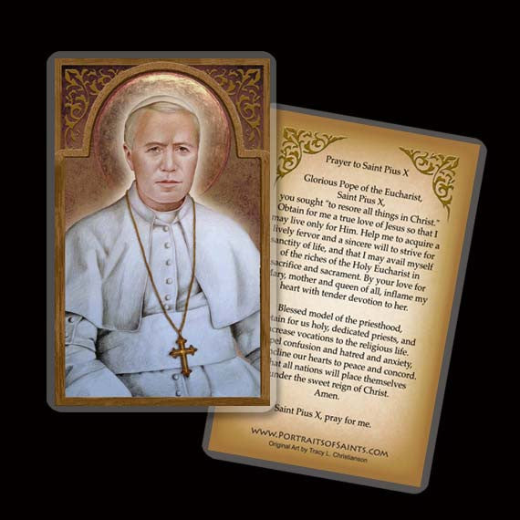 Pope St. Pius X Holy Card