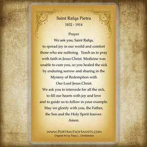 St. Rafqa Holy Card