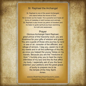 St. Raphael the Archangel Holy Card