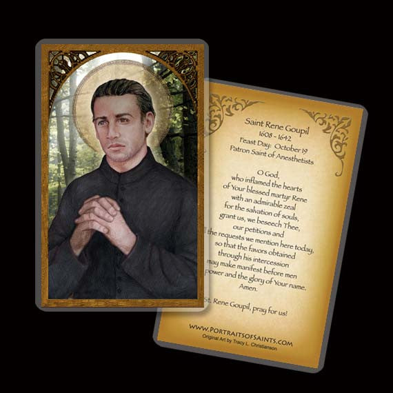 St. Rene Goupil Holy Card