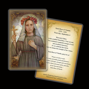 St. Rose of Viterbo Holy Card