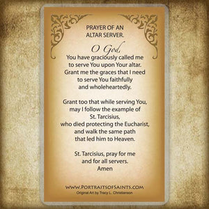 St. Tarcisius Holy Card