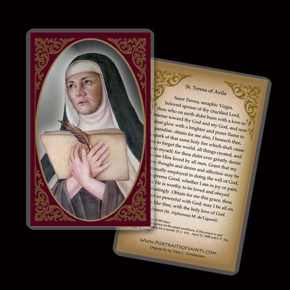 St. Teresa of Avila Holy Card