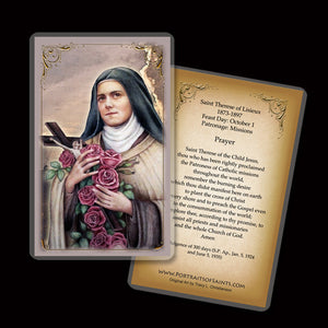 St. Therese of Lisieux (C) Holy Card