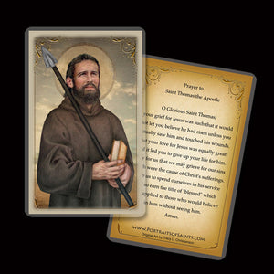 St. Thomas the Apostle Holy Card