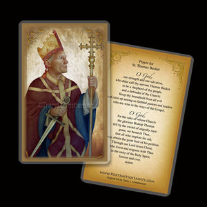 St. Thomas Becket Holy Card