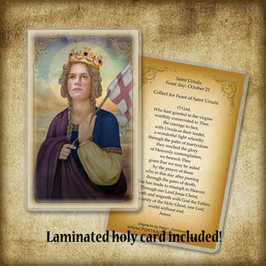 St. Ursula Plaque & Holy Card Gift Set