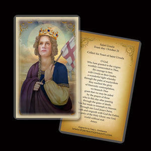 St. Ursula Holy Card