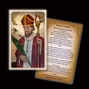 St. Valentine Holy Card