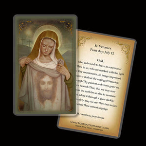 St. Veronica Holy Card