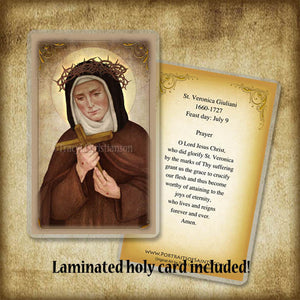 St. Veronica Giuliani Plaque & Holy Card Gift Set