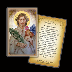 St. Vitus Holy Card