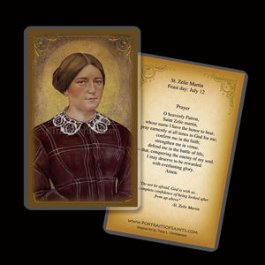St. Zelie Martin Holy Card