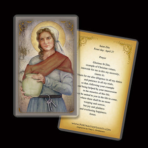 St. Zita Holy Card