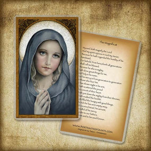 The Virgin Holy Card