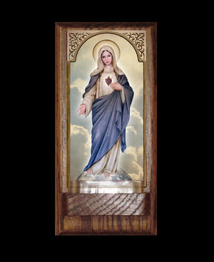 Immaculate Heart (full-length) Holy Water Font