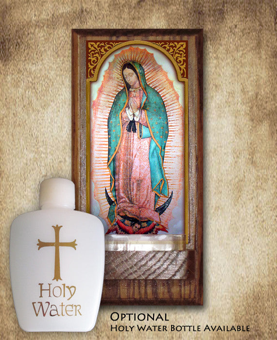 Our Lady Of Guadalupe Holy Water Font Portraits Of Saints
