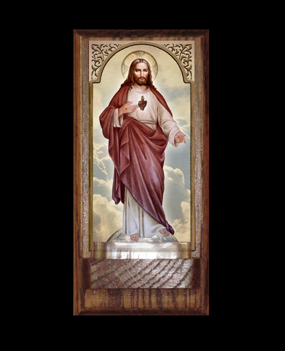 Sacred Heart Full Body Holy Water Font