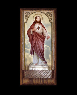 Sacred Heart (full-length) Holy Water Font