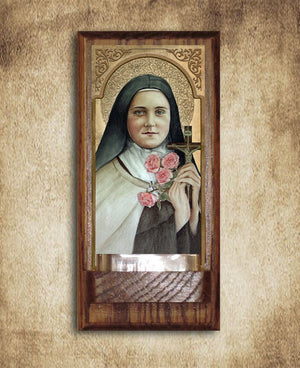 St. Therese of Lisieux Holy Water Font