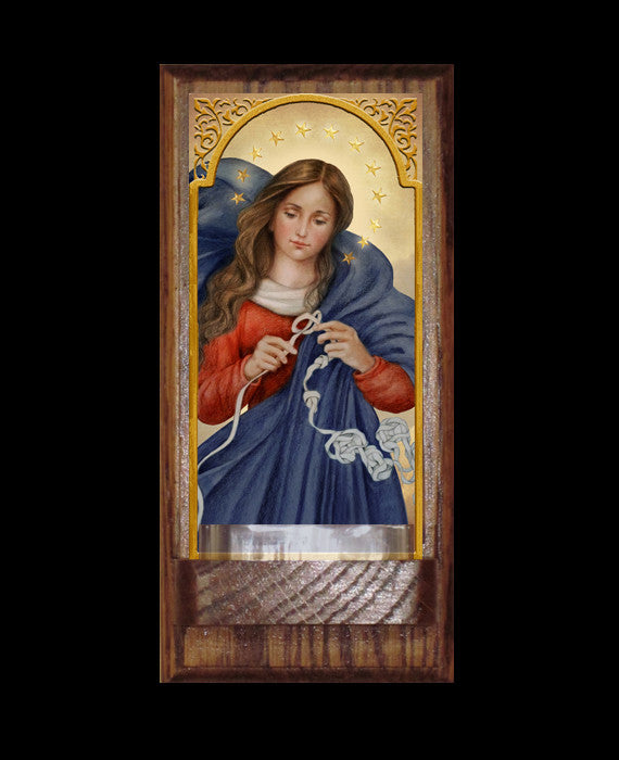 Our Lady, Undoer of Knots Holy Water Font