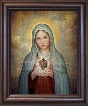 Immaculate Heart of Mary (A) Framed