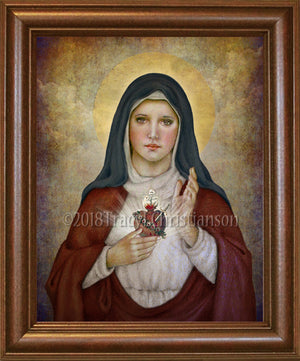 Immaculate Heart of Mary (B) Framed