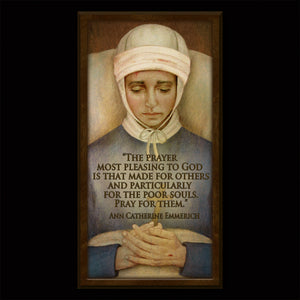Bl. Anne Catherine Emmerich Inspirational Plaque