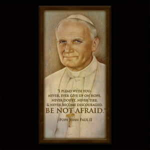 St. John Paul II Inspirational Plaque