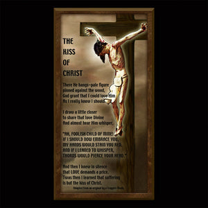 The Kiss of Christ Inspirational Plaque
