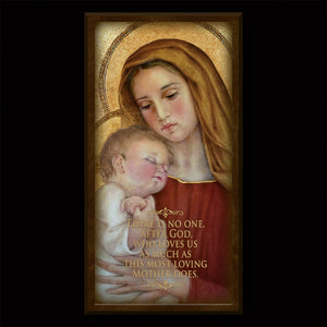 Madonna and Child (G) Inspirational Plaque