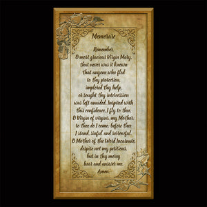 The Memorare Inspirational Plaque