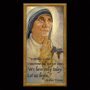 St. Mother Teresa of Calcutta Inspirational Plaque
