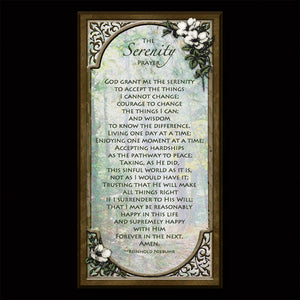 The Serenity Prayer Inspirational Plaque