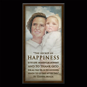 St. Gianna Molla Inspirational Plaque
