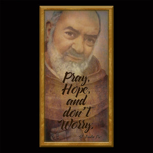 St. Padre Pio Inspirational Plaque