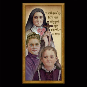 St. Therese of Lisieux Inspirational Plaque