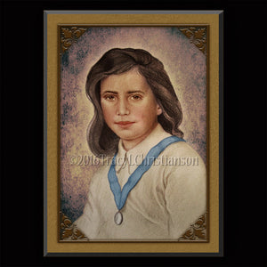 Bl. Laura Vicuna Plaque & Holy Card Gift Set