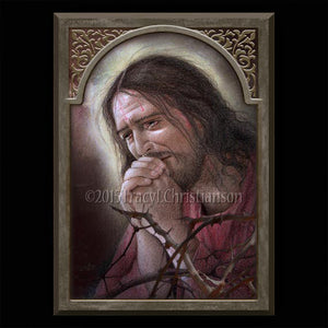Agony of Jesus Plaque & Holy Card Gift Set