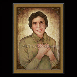 Bl. Alexandrina Maria da Costa Plaque & Holy Card Gift Set