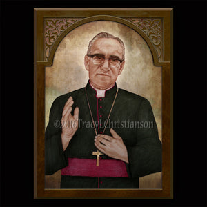 St. Oscar Romero Plaque & Holy Card Gift Set