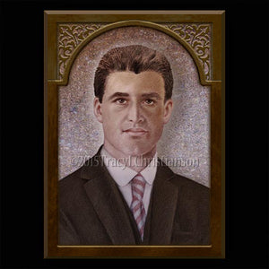 Bl. Pier Giorgio Frassati Plaque & Holy Card Gift Set