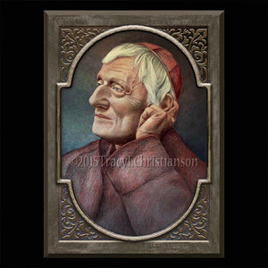 St. John Henry Newman Plaque & Holy Card Gift Set