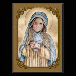 The Child Mary Plaque & Holy Card Gift Set
