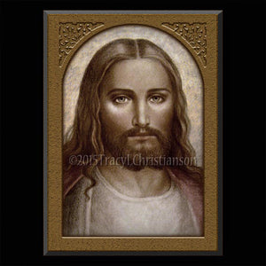 Face of Christ Plaque & Holy Card Gift Set