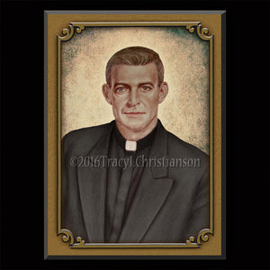 Fr. Vincent Capodanno Plaque & Holy Card Gift Set