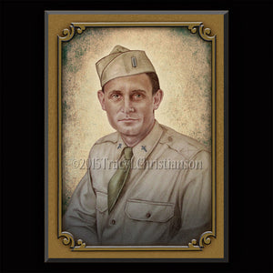 Servant of God Fr. Emil Kapaun Plaque & Holy Card Gift Set