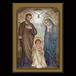 Holy Family (E) Plaque & Holy Card Gift Set