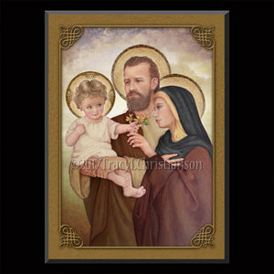 Holy Family (F) Plaque & Holy Card Gift Set